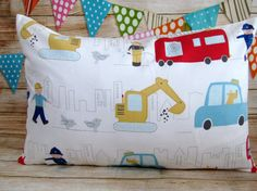 Fire Truck Pillow, Boy Nursery Bedding, CushionCover,Kids Room Decor,  Nursery Decor, Playroom Cushion