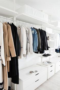 Kleiderschrank Industrial walk in closet dressing room ikea stolmen ankleidezimmer