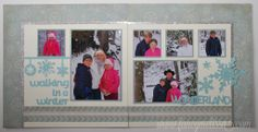 Cricut Artbooking Winter Scrapbook Layout www.fancymelissa.com #frosted #snow #frosted #ctmh