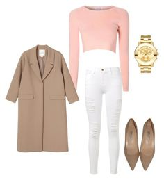 """Untitled #19"" by dquezada29 on Polyvore featuring Glamorous, Frame Denim, Movado, Monki and Jimmy Choo"