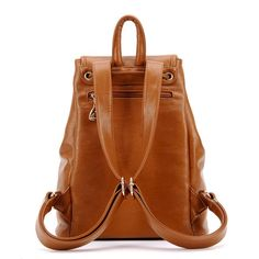 Fashion School New Multi-pocket Leather Backpack - lilyby