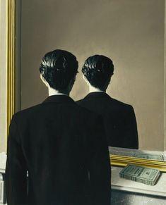 René Magritte: Not to be Reproduced (La reproduction interdite) or 'Portrait of Edward James', 1937. Oil on canvas. Museum Boijmans Van Beuningen, Rotterdam.