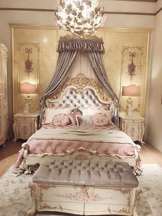 Baroque Bedroom components can add a touch of style and design to any home. Baroque Bedroom can mean many issues to many individuals, but all of them point to… Baroque Bedroom, Royal Bedroom, Gold Bedroom, Baroque Decor, Stylish Bedroom, Modern Bedroom, Contemporary Bedroom, Romantic Bedroom Design, Modern Contemporary