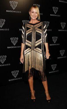 01995dae45728 vestido negro y dorado de Gucci Gatsby Wedding