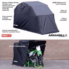 Motocycle covers motorcycle covers motorcycle shelters - Motorcycle foldable garage tent cover ...