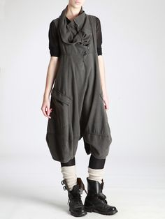 Loose Jumpsuit made of Wooly looking Cotton by LURDES BERGADA