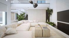 Soggiorno bianco dal design moderno 19
