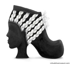 face with braided hair shoe