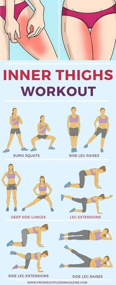 Workout A toned inner thigh is a healthy inner thigh attractive and strong. Show yours some love with these six inner thigh workout to get your dream legs for life! These exercises go beyond traditional leg lifts to slim and shape your inner thigh from. Fitness Workouts, Yoga Fitness, Fitness Motivation, Health Fitness, Workout Routines, Fitness Tips, Physical Fitness, Fitness Pal, Weight Lost Motivation