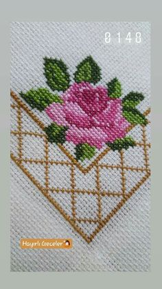 Cross Stitch Cushion, Dmc Cross Stitch, Cross Stitch For Kids, Cross Stitch Borders, Cross Stitch Flowers, Cross Stitching, Cross Stitch Embroidery, Cross Stitch Patterns, Hand Embroidery Design Patterns