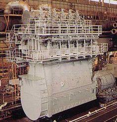 mitsubishi marine engine | large-size marine diesel engine of 31,500PS developed by Mitsubishi ...