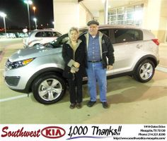 Happy Anniversary to Nancy Tan on your 2012 #Kia #Sportage from Jerry Tonubbee and everyone at Southwest Kia Mesquite! #Anniversary