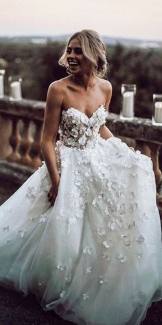21 Top Wedding Dresses 2018 To make you a bright, beautiful bride . - 21 Top Wedding Dresses 2018 To make you a bright, beautiful bride will help a gorgeou - Wedding Dress Train, Rustic Wedding Dresses, Wedding Dresses 2018, Applique Wedding Dress, Gorgeous Wedding Dress, Boho Wedding Dress, Designer Wedding Dresses, Beautiful Bride, Bridal Dresses