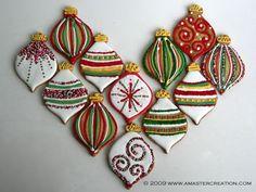 Christmas Ornaments Cookies