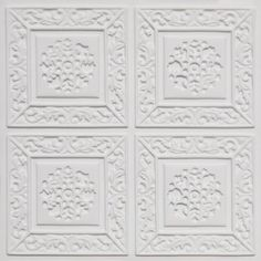 "Cheap Decorative Ceiling Tiles Mesmerizing Tiny Tulips  Faux Tin Ceiling Tile  Glue Up  24""x24""  #148 Review"