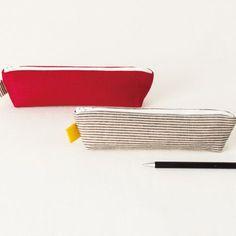 プレゼントにも!色使いが楽しいシンプルなペンケースの作り方(布小物)   ぬくもり