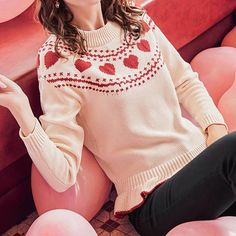 Lovely Heart Knitting Sweater SP1711411