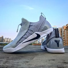 """The lunarlon plus Zoom Air would give you the amazing performance on this dope. Wanna try? -- Nike Kobe A.D. NXT """"Wolf Grey"""" -- #nike #nikebasketball #id4shoes #kobe #kobebryant #nikekobead #nikekobeadnxt #kobeadnxt #next #lunarlon #zoomair #sneakers #basketball #afterdeath #nba #wolfgrey"""