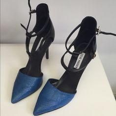 Steve Madden Pumps Blue Snake Print Heels Steve Madden Shoes Heels
