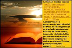 Reflexões : A Bíblia é única, inerrante e infalível!