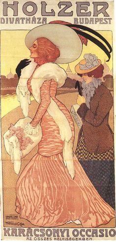 Geza Farago. Poster for the Holzer Fashion Store ,1902