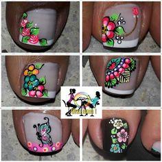 Toe Nail Art, Toe Nails, Pedicure, Nail Designs, Instagram Posts, Toenails, Pretty Nails, Work Nails, Toenails Painted