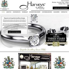 Website design for Harveys the Jewellers. The brief was to create a traditional and clean website. Fi From Fi&Becs Design ( Engagement Ring Buying Guide, Engagement Rings, Bespoke Jewellery, News Sites, Jewelry Rings, Diamonds, Jewelry Design, Product Launch, Jewels
