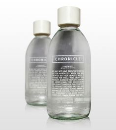 """Chronicle is a modern high-end Gin, made to entice young entrepreneurs. Chronicle is aimed at a male market, 25-40 with an eye for simple yet classic design and fashion."