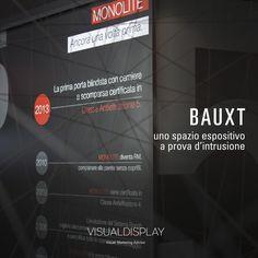 Progetto esclusivo di Exhibit Design, Brand Identity e Retail Graphic per Bauxt Blindate SpA al MADE EXPO' Milano  ©VISUALDISPLAY - Visual Marketing Advisor