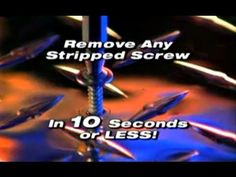 http://asseenontvblog.net/index.php/speedout-will-remove-your-damaged-screws-fast-and-easy/ SpeedOut is essentially an As Seen On TV damaged screw and bolt remover that attaches to any drill and works in just 10 seconds. #video #SpeedOut #asseenontv #asotv #tools #drillbit