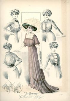 De Gracieuse January 1909, Edwardian Fashion Plate