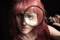 hayley williams pink hair and mag glass from anthro - Modern Angela Gossow, Jeremy Davis, Taylor York, Candy Hair, Cute Eyes, Emo Bands, Pierce The Veil, Hayley Williams, Paramore