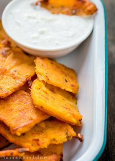 Pumpkin Polenta Chips - serve them as a side dish to something delicious, as a snack, or as party food! They are baked not fried. mommyshomecooking.com