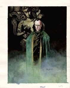 Ra's Al Ghul painting by Mike Mignola