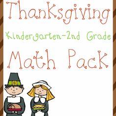 Free Thanksgiving Math Pack (K-2) - http://www.yearroundhomeschooling.com/free-thanksgiving-math-pack-k-2/