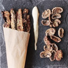 Zucchini Fries, Clean Fried Mushrooms & Horseradish/Lemon Dip