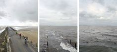 Photographer Snaps Identical Photos Of The British Coast At Low And High Tide. It's Oddly Captivating.
