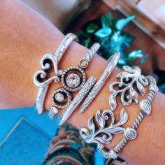 Silver designer bracelets, Silver bracelet womens, Sterling silver bangle bracelet