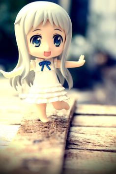"Menma, from a ""Pure Love"" series abbreviated as AnoHana, but as a cute little Nendroid."