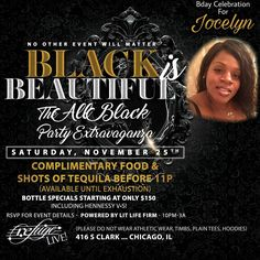 Jocelyn BIRTHDAY Celebration THIS SATURDAY NOVEMBER 25th at @refugechicago!! #seekRefugeSATURDAYS #litLifeFirm #goodVIBES.... . . Complimentary Food and TEQUILA SHOTS b4 11pm! (Available until Exhaustion) ... . . #yourSaturdayNightEscape #chicago #music #fashion #hair #style #pioneer #nightlife #lounge #scorpio #sagittarius #birthday #bday #november #food #chicken #alcohol #tequila #cognac #whiskey #vodka #dancing #fun