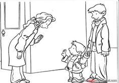 8 En Iyi Sınıf Kuralları Boyama Görüntüsü Preschool Back To