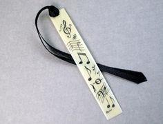 Scrimshaw Piano Key Bookmark (Vintage Piano Key!)