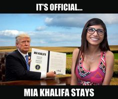 It's Official... Mia Khalifa Stays