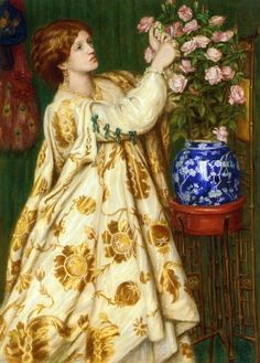 Monna Rosa by Dante Gabriel Rossetti This model is wearing a gorgeous aesthetic dress <3