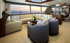 Ocean Alexander 90 Motoryacht.  Who wouldn't love coming home to this every night!