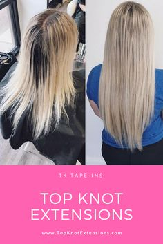 Top Knot Extensions TK Tape-Ins Color 18/613