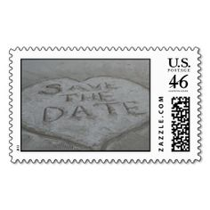 Save the Date in the Sand! Postage Stamps
