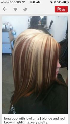 Blonde with red/brown underneath