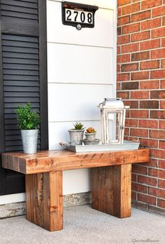 Outdoor Bench - Maybe make it a bit smaller and use as a side table/extra seating?