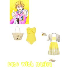 """Date with Nagisa"" by itzelperaltadelacruz on Polyvore"
